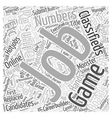 Job Search Is It a Numbers Game Word Cloud Concept vector image vector image