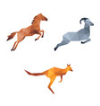 jumping animal low poly vector image