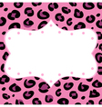 Leopard retro frame vector image vector image