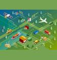 Logistics Isometric Infographics vector image vector image