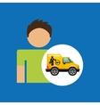 man car mechanic service icon graphic vector image vector image
