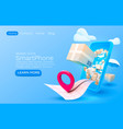 mobile delivery service package delivery is all vector image