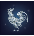 New year 2017 creative greeting card with Rooster vector image vector image