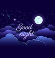 night sky art design moon star paper cartoon vector image vector image