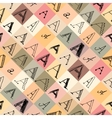 Pattern of the letter a in different styles vector image vector image