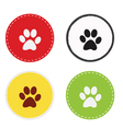 Paw Circle vector image