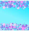 pink purple blue watercolor drops on the vector image