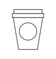 portable paper coffee cup for breakfast office vector image