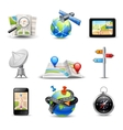 Realistic Navigation Icons vector image vector image
