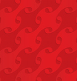 Red diagonal shells on checkered background vector image vector image