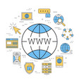 round linear concept of www vector image vector image