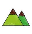 Scribble mountain cartoon