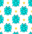 Seamless pattern cute cartoon bows-2 vector image