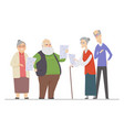 senior people singing - flat design style vector image vector image