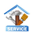 service house symbol for business vector image vector image