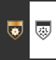 shield fire and ball for sport icon logo design vector image
