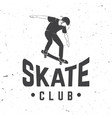 skate club badge vector image