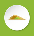 sloping hill icon in flat style vector image