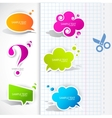 Speech bubble elements vector | Price: 1 Credit (USD $1)