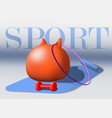 sport equipment fitness goods gray vector image