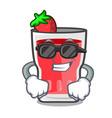 super cool strawberry mojito character cartoon vector image vector image