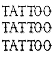 Tattoo Doodle Letters vector image