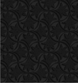 Textured black plastic floral pin will vector image vector image