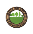 Tree growth rings vector image