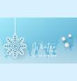 winter social media post design template vector image vector image