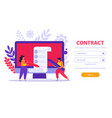 work contract login background vector image vector image