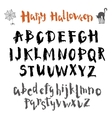 written in ink alphabet vector image