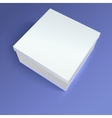 Close up carton box on colored background vector image