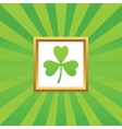 Clover picture icon vector image