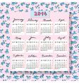horse calendar 2014 with toys vector image