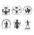 icons fitness club vector image