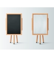 Two Wooden Easel vector image