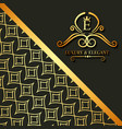 luxury and elegant floral golden abstract card vector image