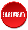 2 years warranty red round flat isolated push vector image vector image