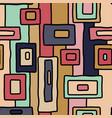 abstract retro aboriginal seamless pattern vector image vector image