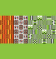 african ethnic seamless pattern geometric design vector image vector image