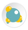 blue molecule icon circle vector image vector image