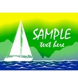 Brazil Summer Color Background With Yacht vector image vector image