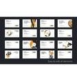 business card template with yellow soft vector image vector image