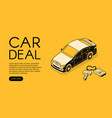 car trade service halftone vector image