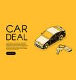car trade service halftone vector image vector image