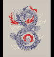 chinese traditional dragon vector image