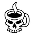 coffee skull vector image