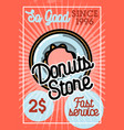 color vintage donuts store banner vector image vector image