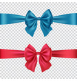 colorful bows isolated on transparent background vector image