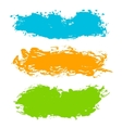 Colorful paint strokes vector image